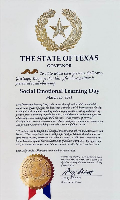 SEL Day Governors Proclamation 2021